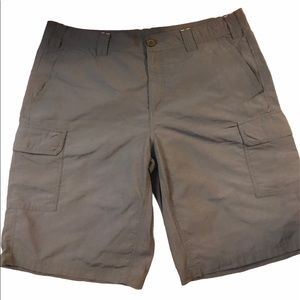 Eddie Bauer Men's Dark Khaki Light Cargo Shorts